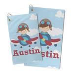Airplane & Pilot Microfiber Golf Towel (Personalized)