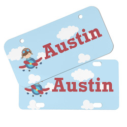 Airplane & Pilot Mini/Bicycle License Plates (Personalized)