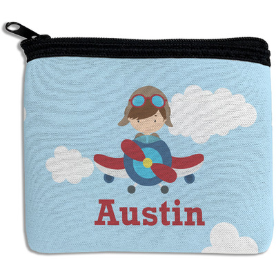 Airplane & Pilot Rectangular Coin Purse (Personalized)