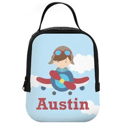 Airplane & Pilot Neoprene Lunch Tote (Personalized)