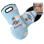 Airplane & Pilot Neoprene Oven Mitt (Personalized)