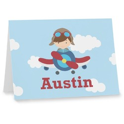 Airplane & Pilot Notecards (Personalized)