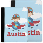 Airplane & Pilot Notebook Padfolio w/ Name or Text