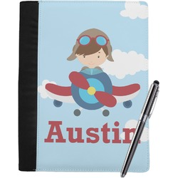 Airplane & Pilot Notebook Padfolio (Personalized)