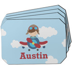 Airplane & Pilot Dining Table Mat - Octagon w/ Name or Text