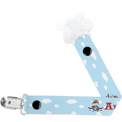 Airplane & Pilot Pacifier Clips (Personalized)