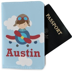 Airplane & Pilot Passport Holder - Fabric (Personalized)