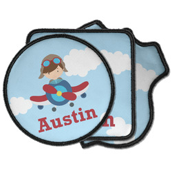 Airplane & Pilot Iron on Patches (Personalized)