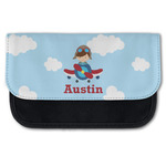 Airplane & Pilot Canvas Pencil Case w/ Name or Text