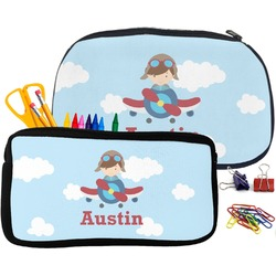 Airplane & Pilot Pencil / School Supplies Bag (Personalized)