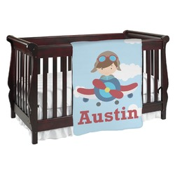 Airplane & Pilot Baby Blanket (Personalized)