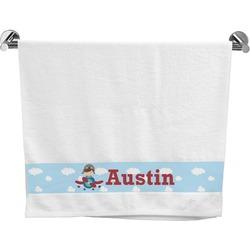 Airplane & Pilot Bath Towel (Personalized)