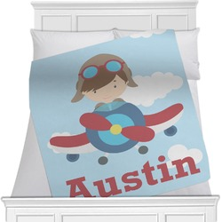 Airplane & Pilot Minky Blanket (Personalized)