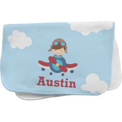Airplane & Pilot Burp Cloth (Personalized)