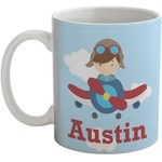Airplane & Pilot Coffee Mug (Personalized)