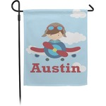 Airplane & Pilot Garden Flag (Personalized)