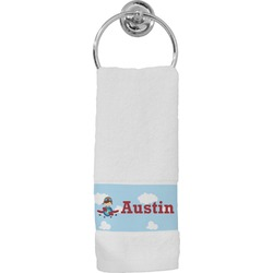 Airplane & Pilot Hand Towel (Personalized)