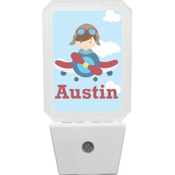 Airplane & Pilot Night Light (Personalized)