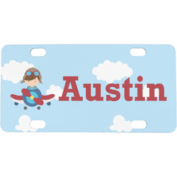 Airplane & Pilot Mini / Bicycle License Plate (Personalized)