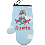 Airplane & Pilot Left Oven Mitt (Personalized)