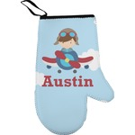 Airplane & Pilot Right Oven Mitt (Personalized)