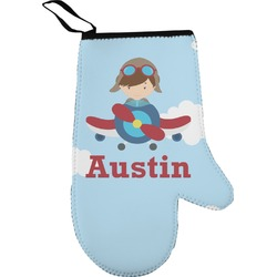 Airplane & Pilot Oven Mitt (Personalized)