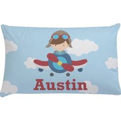 Airplane & Pilot Pillow Case (Personalized)