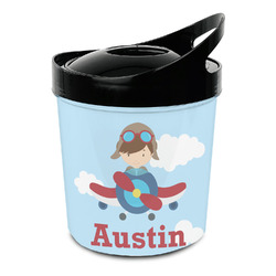 Airplane & Pilot Plastic Ice Bucket (Personalized)