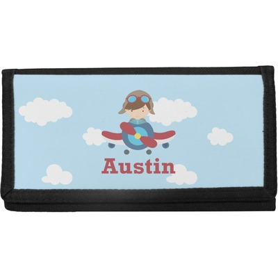 Airplane & Pilot Canvas Checkbook Cover (Personalized)