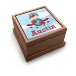 Airplane & Pilot Pet Urn w/ Name or Text