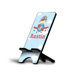 Airplane & Pilot Cell Phone Stands (Personalized)