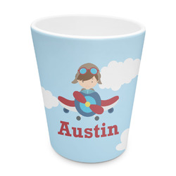 Airplane & Pilot Plastic Tumbler 6oz (Personalized)
