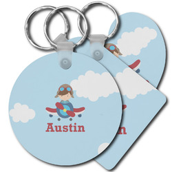 Airplane & Pilot Plastic Keychains (Personalized)