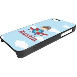Airplane & Pilot Plastic iPhone 5/5S Phone Case (Personalized)