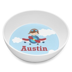 Airplane & Pilot Melamine Bowl 8oz (Personalized)