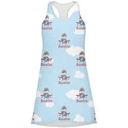 Airplane & Pilot Racerback Dress (Personalized)
