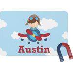 Airplane & Pilot Rectangular Fridge Magnet (Personalized)