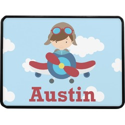 Airplane & Pilot Rectangular Trailer Hitch Cover (Personalized)