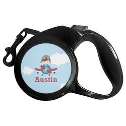 Airplane & Pilot Retractable Dog Leash - Multiple Sizes (Personalized)