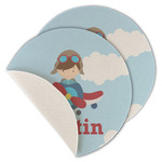 Airplane & Pilot Round Linen Placemat (Personalized)