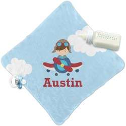Airplane & Pilot Security Blanket (Personalized)