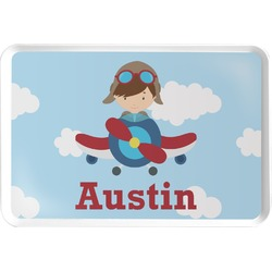 Airplane & Pilot Serving Tray (Personalized)