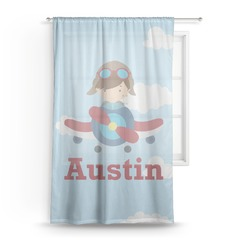 Airplane & Pilot Sheer Curtains (Personalized)