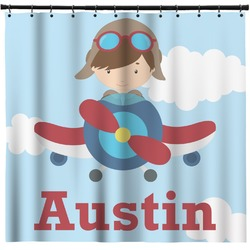 Airplane U0026 Pilot Shower Curtain   Custom Width U0026 Height (Personalized)
