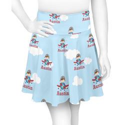 Airplane & Pilot Skater Skirt (Personalized)