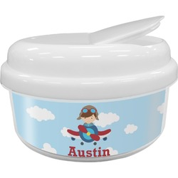 Airplane & Pilot Snack Container (Personalized)