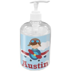 Airplane & Pilot Acrylic Soap & Lotion Bottle (Personalized)