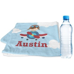 Airplane & Pilot Sports Towel (Personalized)
