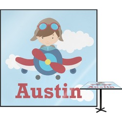 Airplane & Pilot Square Table Top (Personalized)