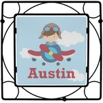 Airplane & Pilot Square Trivet (Personalized)